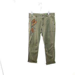 Anthropologie The WANDERER Beaded Pants Sz 30